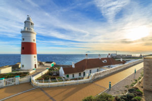 Europa Point Lighthouse On A Shore Of Gibraltar