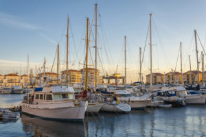 Queensway Quay Marina In Gibraltar At Sunset
