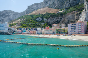 Iew Of Small Fishing Village And Sandy Beach At Catalan Bay