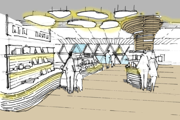 Cable Car Project Gift Shop Artist Impression