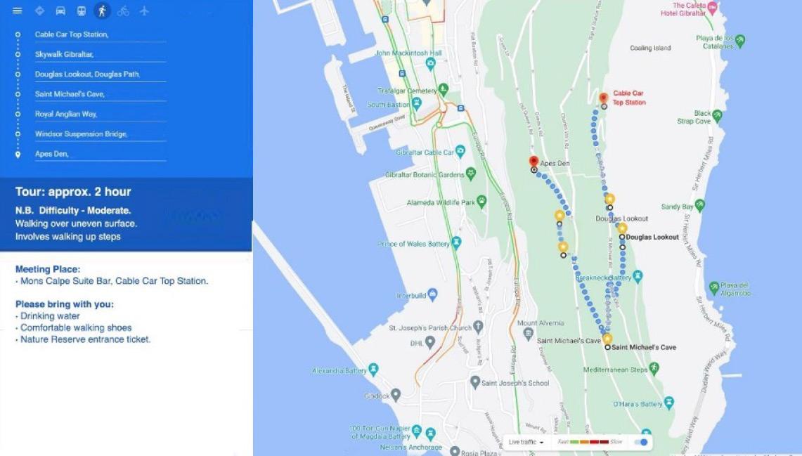 Walking Tour Map Image
